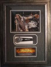 STEVEN TYLER (Aerosmith) signed microphone framed display-JSA Authentic