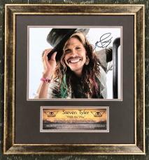 STEVEN TYLER- Aerosmith signed/autographed photo custom framed display-JSA