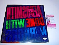 Steven Tyler Aerosmith,done With Mirrors Jsa/coa Signed Lp Record Album