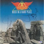 Steven Tyler and Joe Perry Aerosmith Autographed Rock in a Hard Place Album - JSA