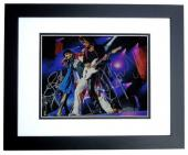 Steven Tyler and Joe Perry Signed - Autographed 11x14 Aerosmith Photo BLACK CUSTOM FRAME - Guaranteed to pass PSA or JSA