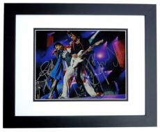 Steven Tyler and Joe Perry Signed - Autographed 11x14 Aerosmith Photo BLACK CUSTOM FRAME - Guaranteed to pass PSA or JSA