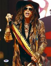 "Steven Tyler Autographed 11"" x 14"" Aerosmith Wearing Brown Hat From The Waist Up Photograph - PSA/DNA COA"