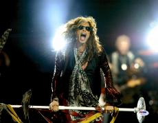 "Steven Tyler Autographed 11"" x 14"" Singing with Mouth Wide Open Photograph - PSA/DNA COA"