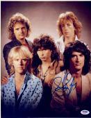 "Steven Tyler Autographed 11""x 14"" Aerosmith Group Photograph - PSA COA"