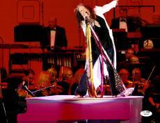 "Steven Tyler Autographed 11""x 14"" Aerosmith White Coat Photograph - JSA COA"