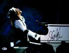 "Steven Tyler Autographed 11""x 14"" Aerosmith White Piano Photograph - BAS COA"