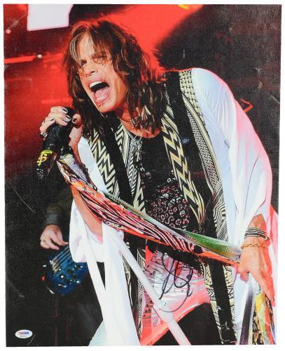 "Steven Tyler Autographed 16""x 20"" Aerosmith Stretched Canvas - BAS COA"
