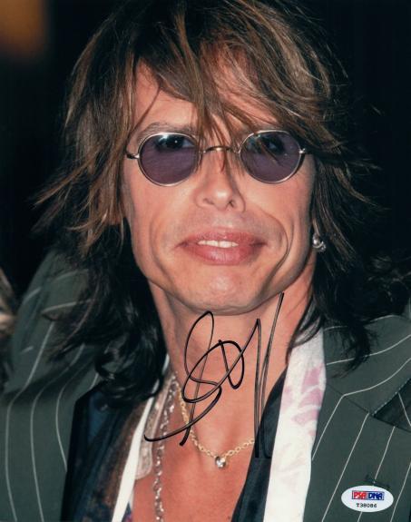 Steven Tyler Autographed 8x10 Aerosmith Photo RACC TS UACC RD AFTAL PSA