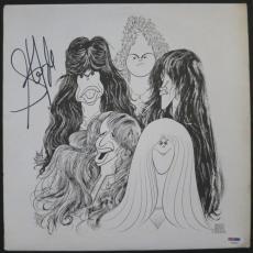 "Steven Tyler Autographed Aerosmith ""Draw The Line"" Album Signed PSA DNA COA"