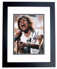 Steven Tyler Signed - Autographed Concert 8x10 Aerosmith Photo BLACK CUSTOM FRAME