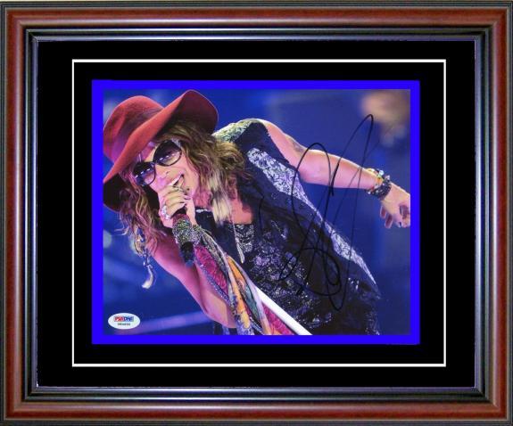 Steven Tyler Autographed Framed 8x10 Photo (PSA/DNA)