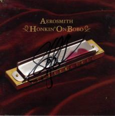 Steven Tyler Autographed Honkin On Bobo Cd Booklet UACC RD COA AFTAL