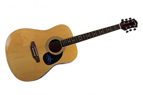 Steven Tyler Autographed Signed Acoustic Guitar & Video Proof! AFTAL