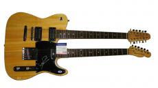 Steven Tyler Autographed Signed Double Neck Guitar PSA DNA AFTAL