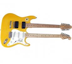 Steven Tyler Autographed Signed Doubleneck Guitar UACC RD PSA