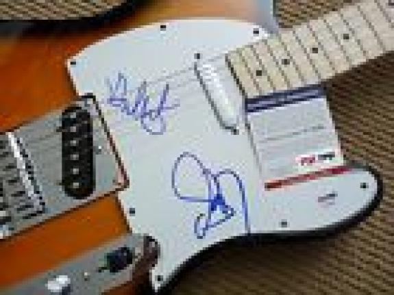 Steven Tyler Brad Whitford Aerosmith IP Signed Electric Guitar PSA Certified