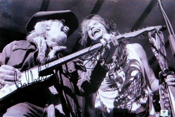 Steven Tyler Brad Whitford Signed Autographed 10X15 Photo Aerosmith JSA T59745