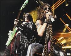 Steven Tyler Joe Perry Dual Signed Autographed 16X20 Photo Aerosmith GA774645