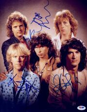 "Steven Tyler, Joe Perry, Tom Hamilton, Brad Whitford, & Joey Kramer Autographed 11""x 14"" Aerosmith Complete Band Photograph- PSA/DNA LOA"
