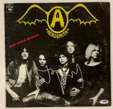 """Steven Tyler & Perry Autographed Aerosmith """"Get Your Wings"""" Album Signed PSA COA"""