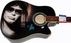 Steven Tyler Signed 12-String Airbrush Guitar & Video Proof PSA