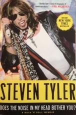 """STEVEN TYLER signed 1st Edition """"Does the Noise in My Head Bother You"""" book -JSA"""