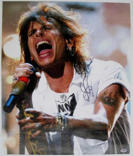 STEVEN TYLER Signed 20x24 Aerosmith Canvas Photo PSA/DNA COA Autograph Auto