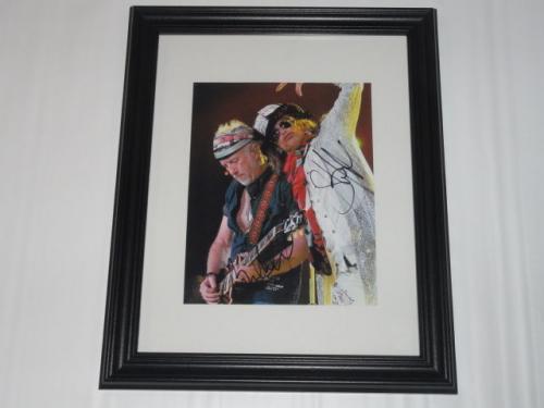 Steven Tyler Brad Whitford Signed Framed And Matted Aerosmith 8x10 Photo Rare