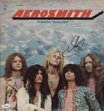 Steven Tyler Signed Aerosmith Debut Record Album Jsa Coa K42145