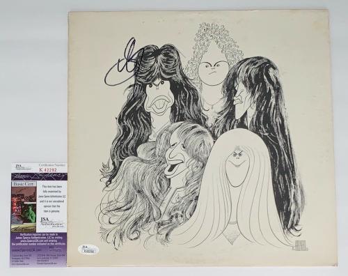 Steven Tyler Signed Aerosmith Draw The Line Record Album Jsa Coa K42292