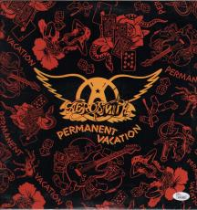 Steven Tyler Signed Aerosmith Permanent Vacation Record Album Jsa Coa K42460