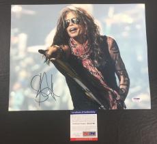 Steven Tyler Signed Auto Aerosmith Pump Live On Stage 11x14 Photo Psa/dna Coa 1