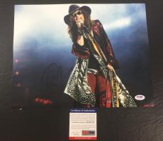 Steven Tyler Signed Autograph Aerosmith Just Push Play 11x14 Photo Psa/dna Coa 3