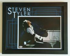 Steven Tyler Signed Autographed 11x14 Aerosmith Framed 14x18 PSA DNA
