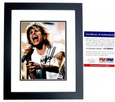 Steven Tyler Signed - Autographed Aerosmith 8x10 inch Photo with PSA/DNA Authenticity BLACK CUSTOM FRAME
