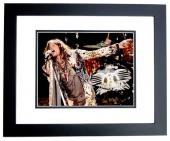 Steven Tyler Signed - Autographed Aerosmith Concert 11x14 inch Photo BLACK CUSTOM FRAME - Guaranteed to pass PSA or JSA