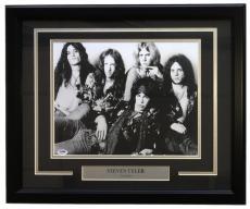 Steven Tyler Signed Framed 11x14 Aerosmith Studio Photo PSA X92257