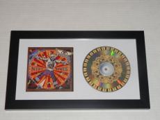 """Steven Tyler Signed Framed """"nine Lives"""" Cd Aerosmith Legend Proof"""