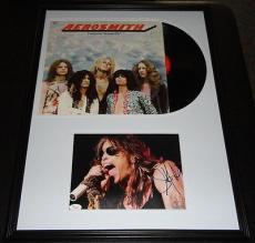 Steven Tyler Signed Framed Original Aerosmith Album & Photo Display JSA