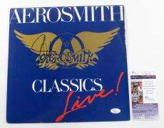 Steven Tyler Signed LP Record Album Aerosmith Classics Live w/ JSA AUTO