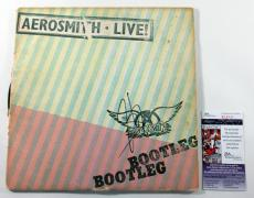 Steven Tyler Signed LP Record Album Aerosmith Live Bootleg w/ JSA AUTO