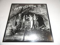 """Steven Tyler Signed Framed """"night In The Ruts"""" Album Lp Aerosmith"""