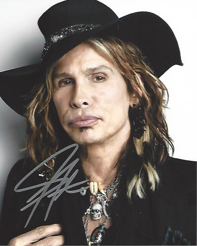 "STEVEN TYLER -SINGER/SONGWRITER - Best Known as the Lead Singer of ROCK BAND ""AEROSMITH"" Signed 8x10 Color Photo"
