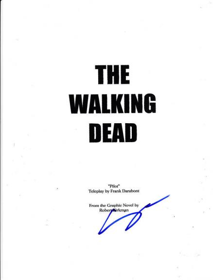 Steven Yeun Glen Signed Walking Dead Pilot Episode Full 61 Page Script Autograph