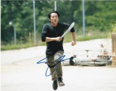 Steven Yeun Signed 8x10 Photo Autograph The Walking Dead Dead Glen Coa E
