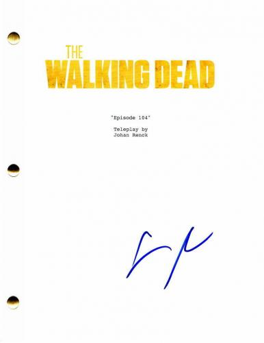 Steven Yeun Signed Autograph - The Walking Dead Episode Script - Norman Reedus A
