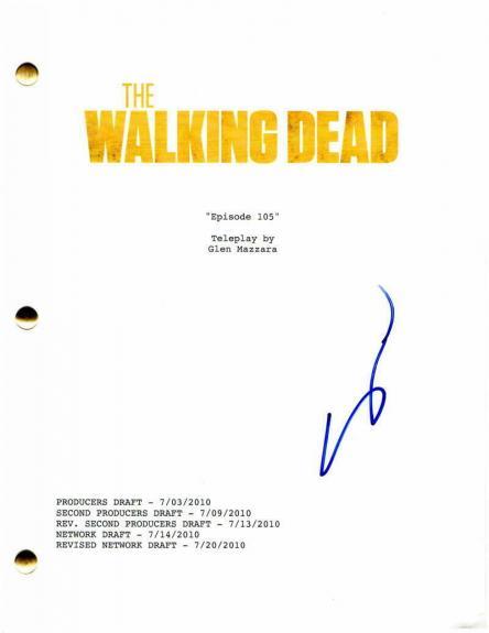 Steven Yeun Signed Autograph - The Walking Dead Episode Script - Norman Reedus B