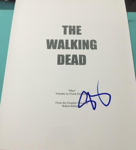 """Steven Yeun Signed Autograph """"the Walking Dead"""" Pilot Episode Show Script Coa"""