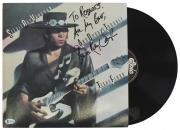 "Stevie Ray Vaughan ""All My Best"" Signed Texas Flood Album Cover W/ Vinyl BAS"